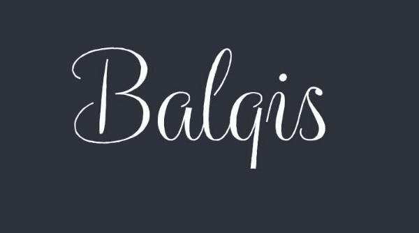 Balqis handwriting font