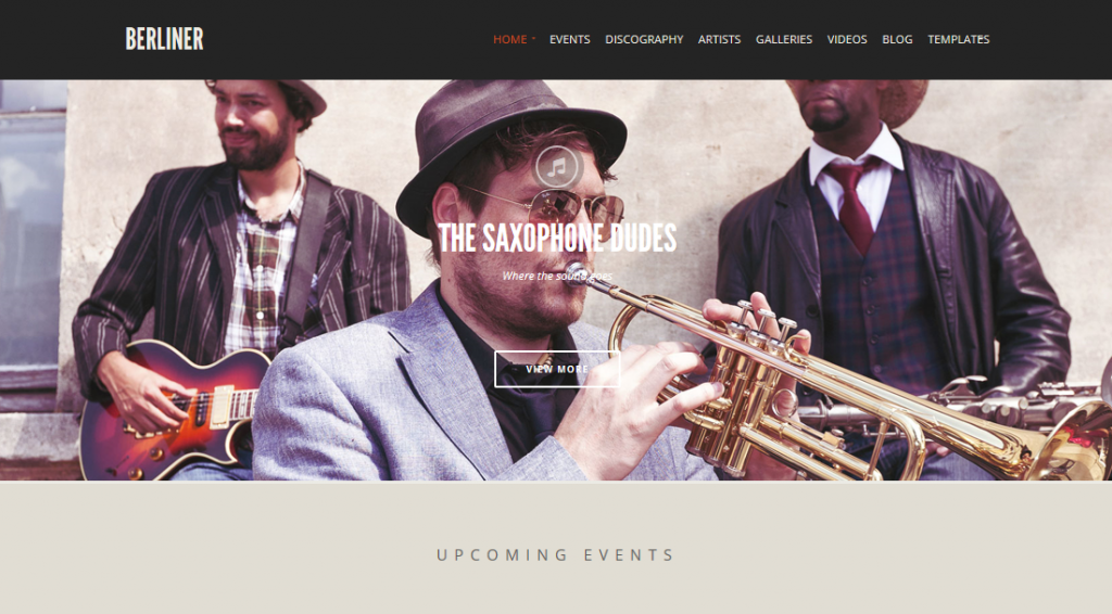 Berliner theme demo homepage