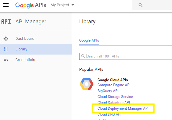 Cloud Deployment Manager