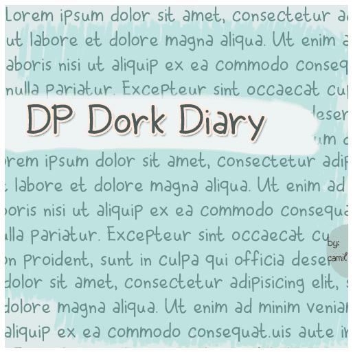 DP Dork Diary handwritten font