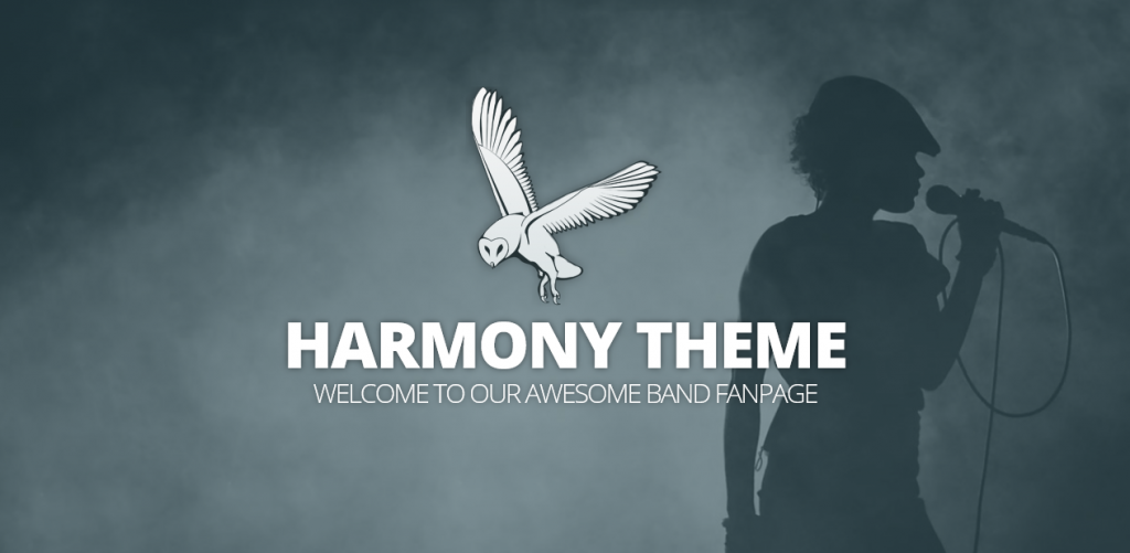 Harmony theme demo homepage
