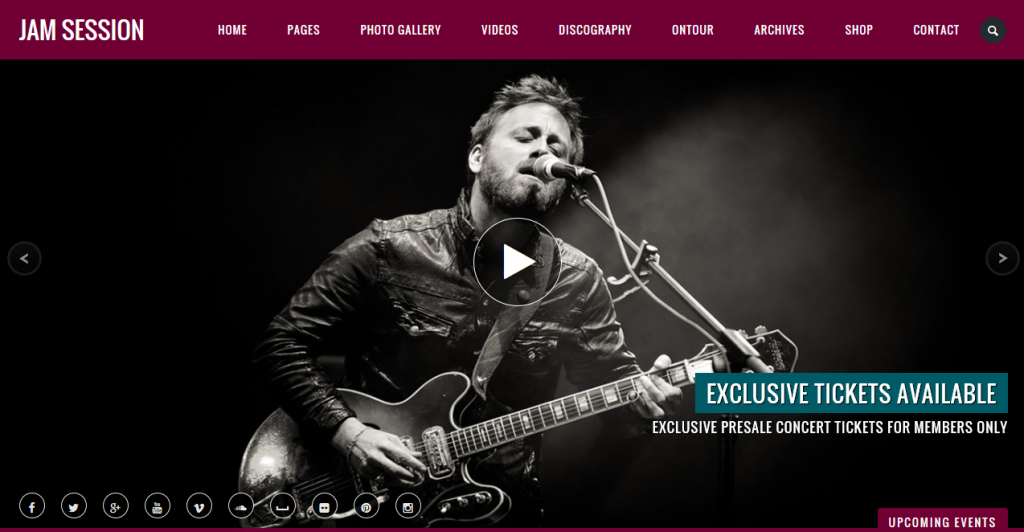 The 19 best wordpress themes for bands musicians and recording jam session theme demo homepage maxwellsz