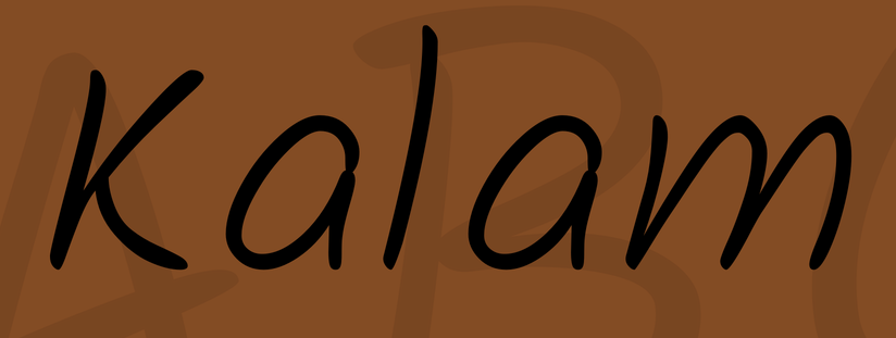 Kalam handwriting font