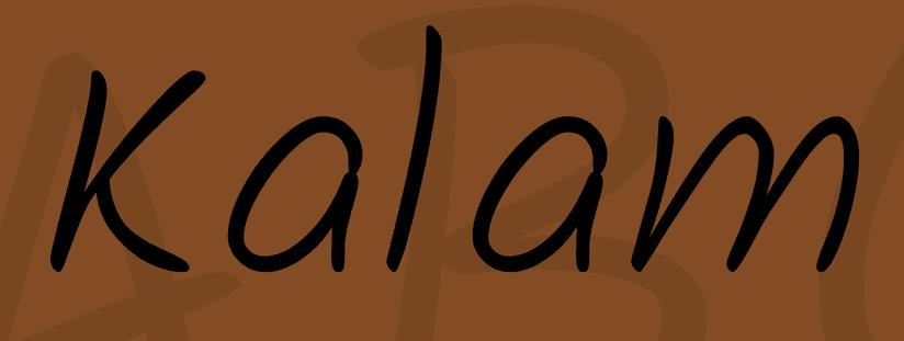 Kalam handwriting font