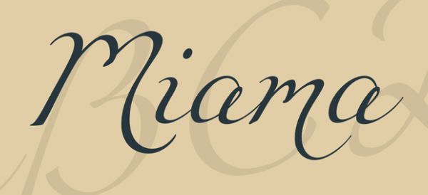 Miama Font handwriting
