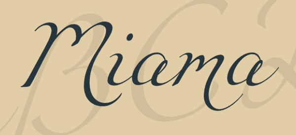 Miama Font handwriting