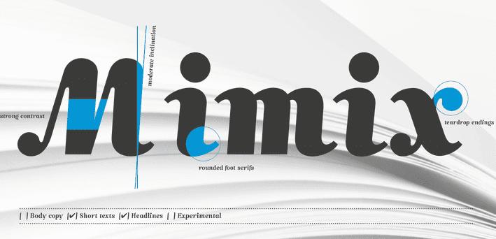 Mimix handwriting font