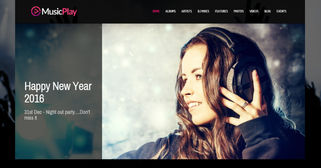 MusicPlay theme demo homepage