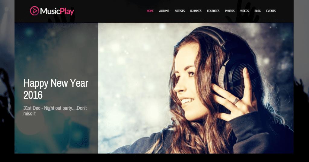 MusicPlay theme demo homepage