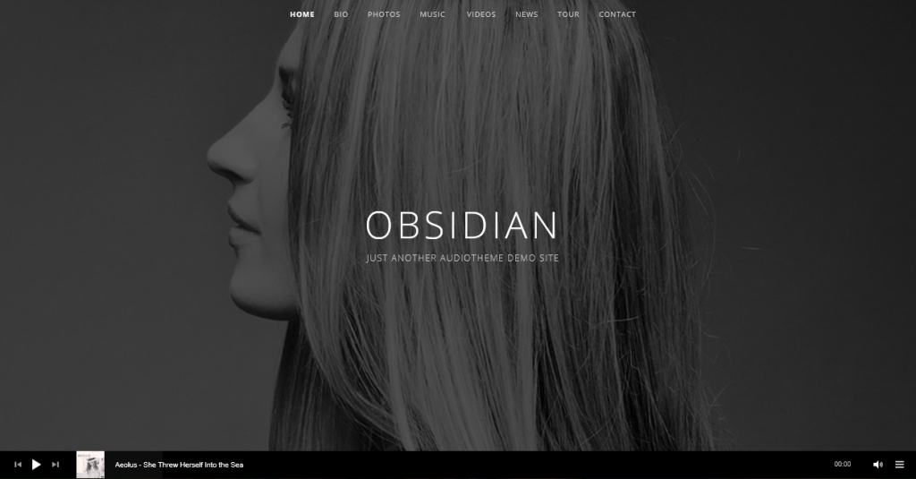 Obsidian theme demo homepage