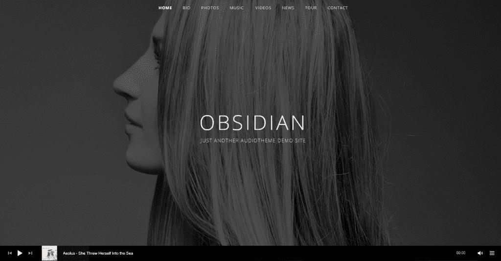 Obsidian theme demo homepage