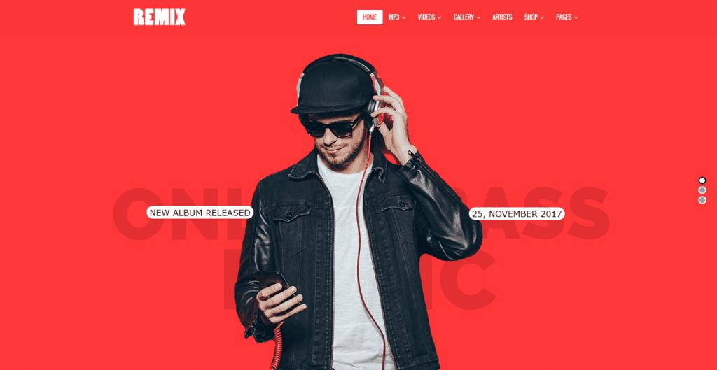 Remix theme demo homepage