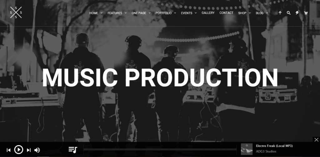 SPECTRA theme demo homepage