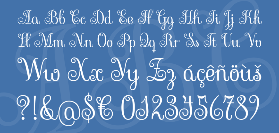 Sevillana handwriting font