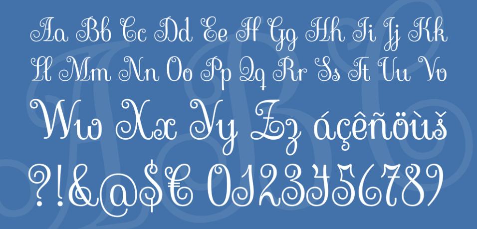 Sevillana handwriting font