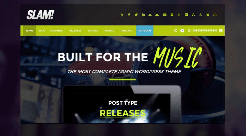 SLAM! theme demo homepage