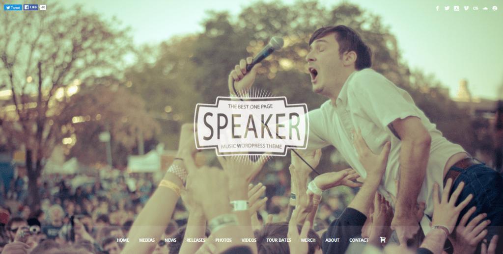Speaker theme demo homepage