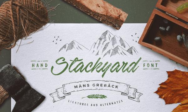 Stackyard handwriting font