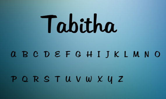 Tabitha handwriting font