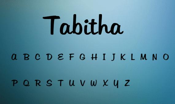 Tabitha handwriting font