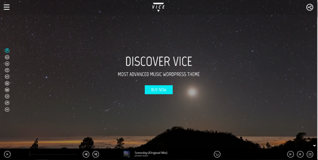 Vice theme demo homepage