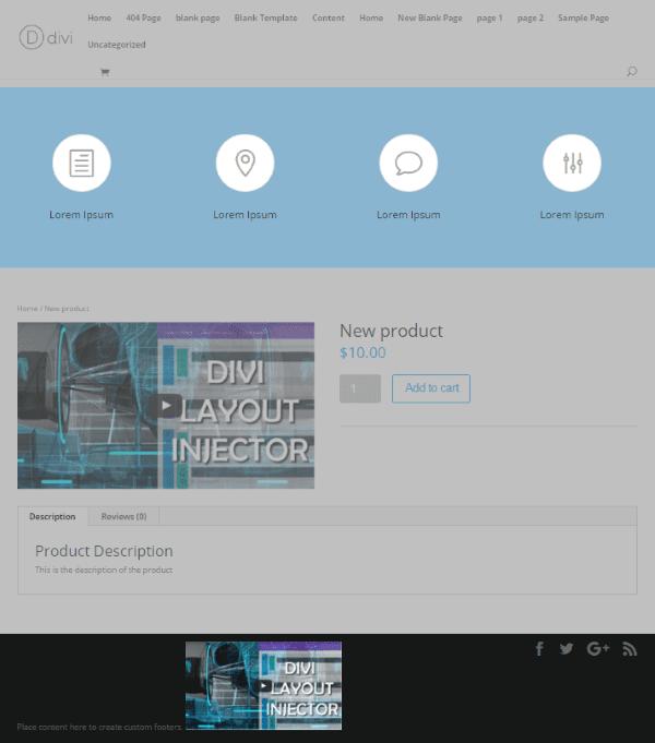 Divi plugin highlight divi layout injector elegant - Divi builder woocommerce product page ...