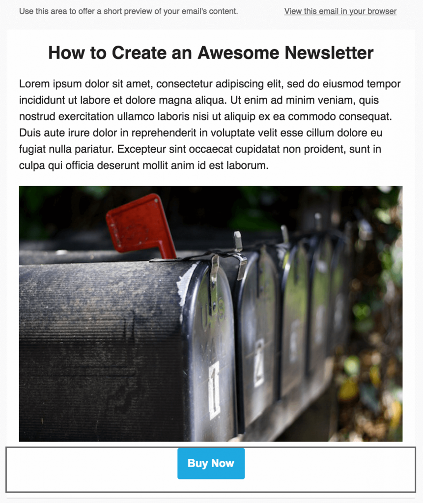 Adding a button to your newsletter.