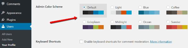 change-wordpress-admin-color-scheme1