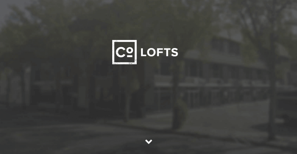 The CoLofts homepage.