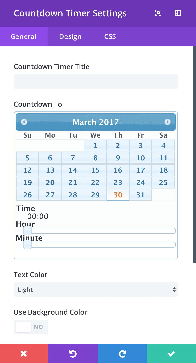 countdown-timer-general-settings