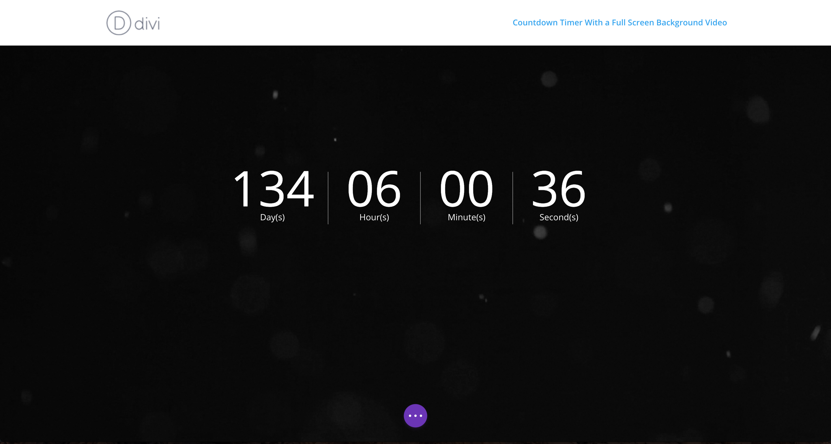 countdown timer with full screen background video completed