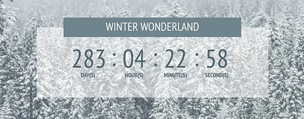 How to Create a Gorgeous Seasonal Transparent Countdown Timer in Divi