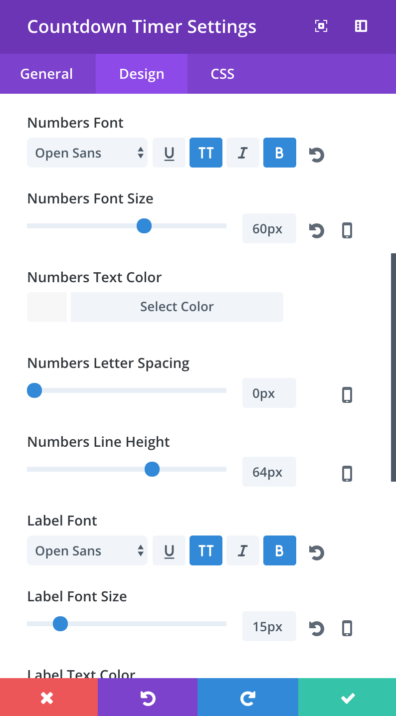 divi-countdown-timer-design-settings