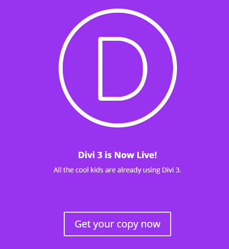 An example of a modified Divi splash page.