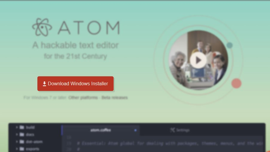 download atom code editor