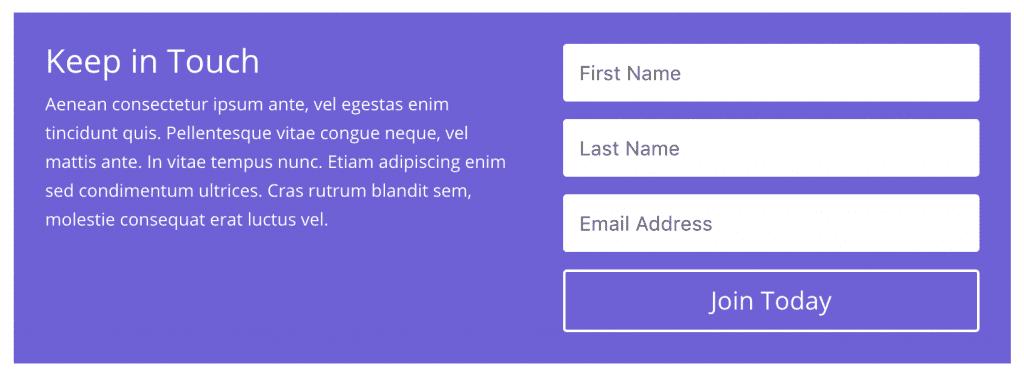 The Email Optin module.