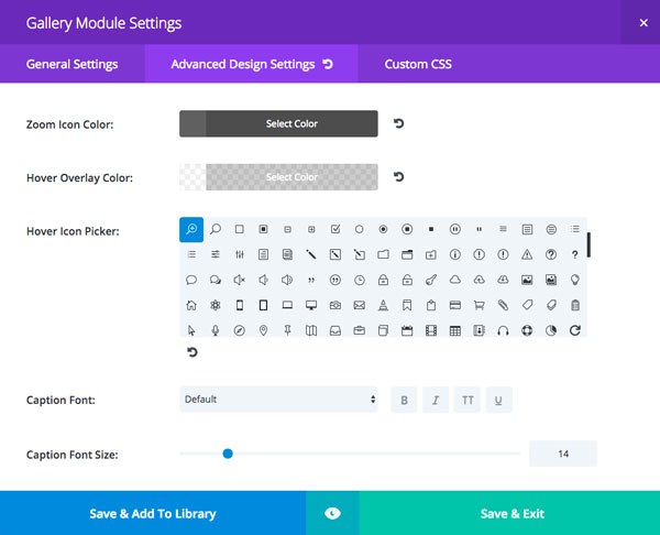 Example 2 Advanced Design Settings