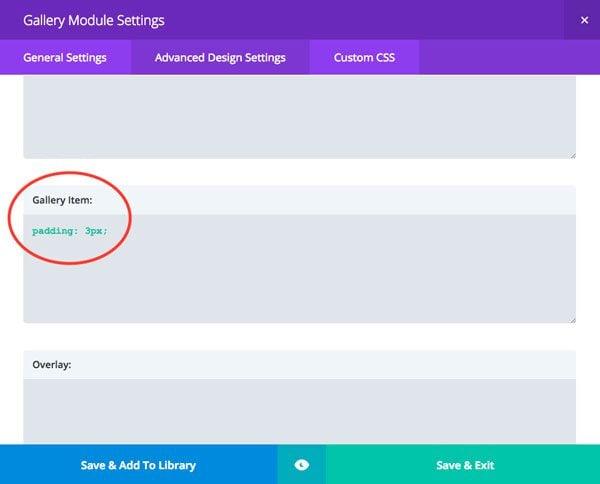 Example 2 - Custom CSS Settings