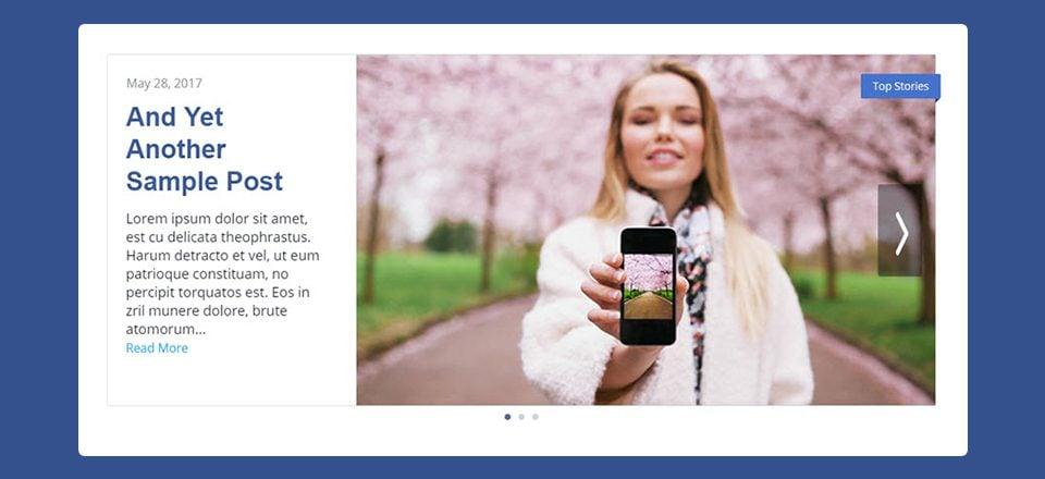 How to Style Divi's Post Slider Module like Facebook Newsroom's Post Slider