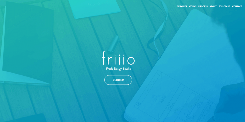 The Friiio homepage.