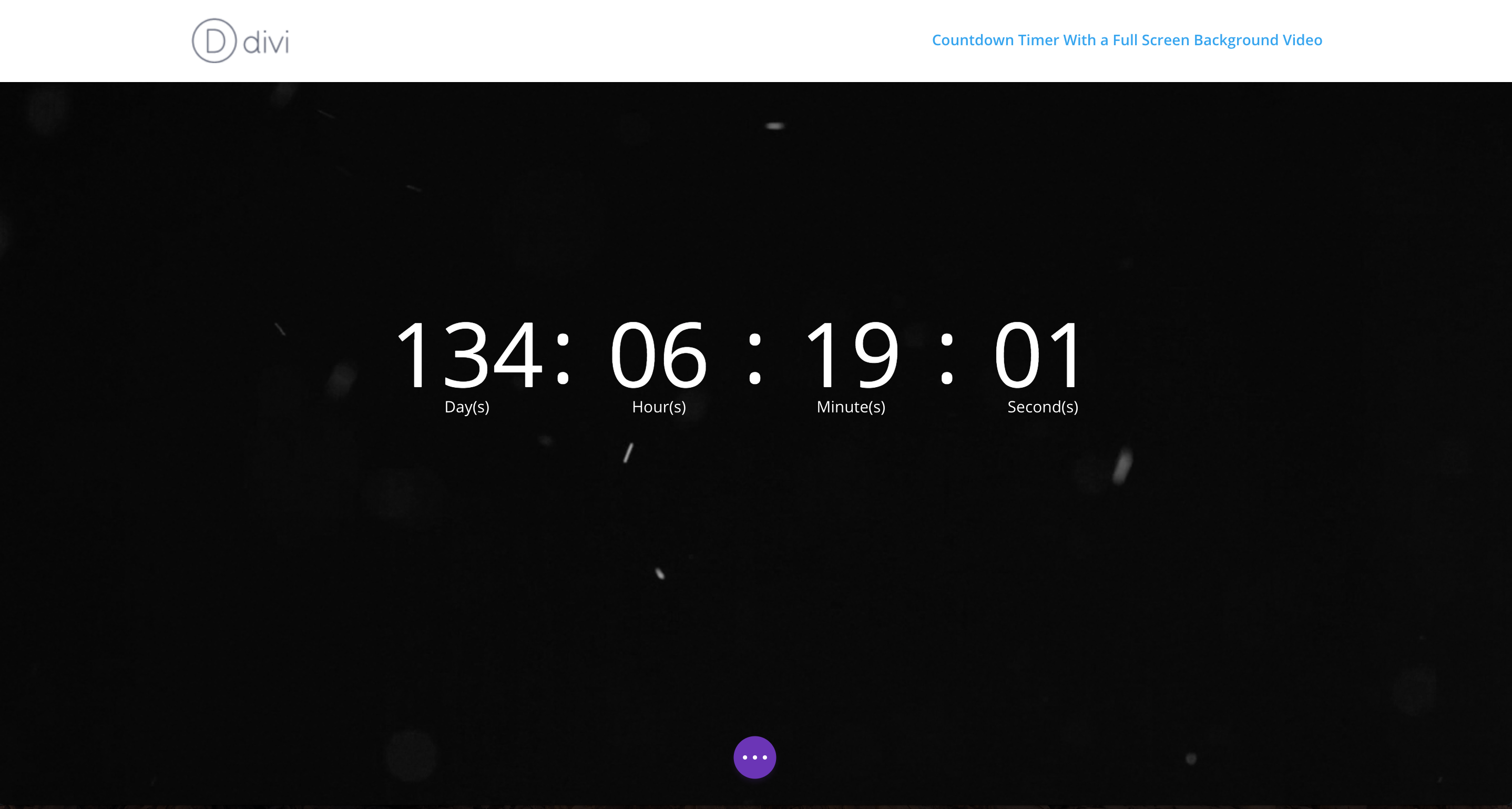 full screen background video countdown timer progress screenshot