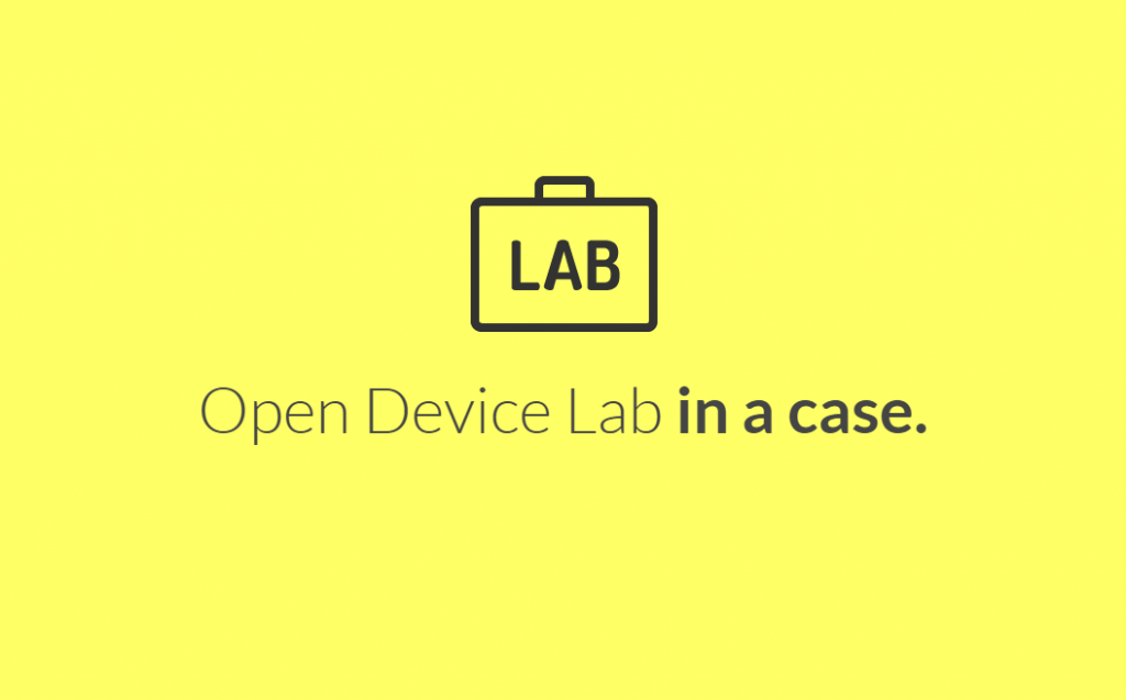The LabCase homepage.