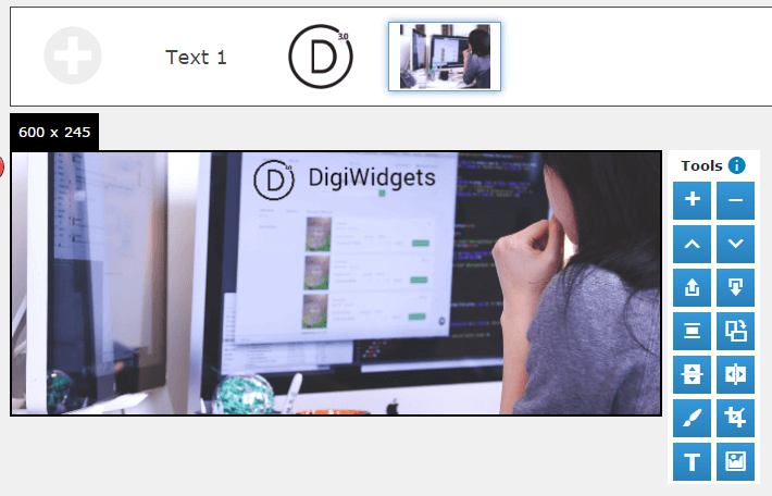 Another example of the DigiWidgets layer system.