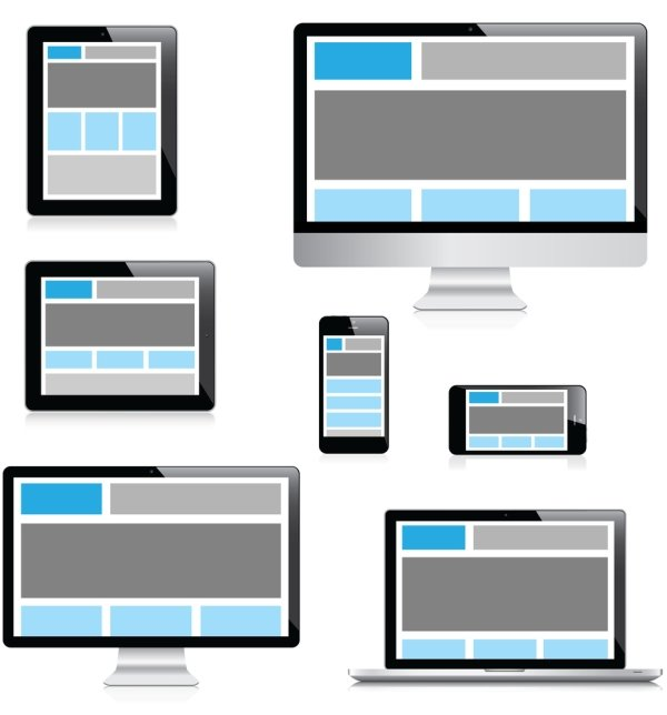 Mobile-first responsiveness display on different devices.