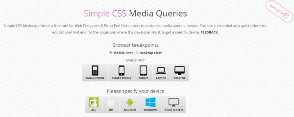 Interface of the SimpleCSS tool.