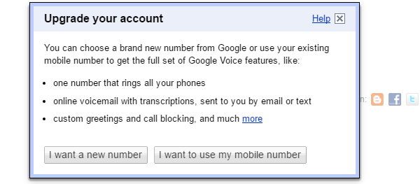 To get a new Google Voice number.