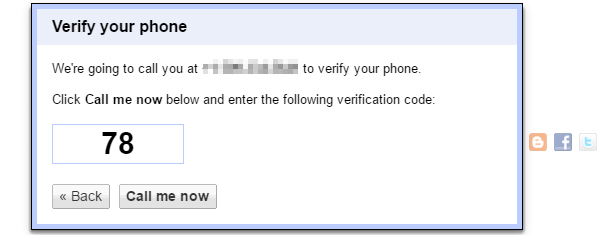 Verification code.