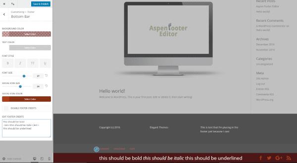 Divi Plugin Highlight – Aspen Footer Editor | Elegant Themes