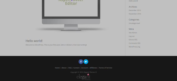 edit footer content thesis Understanding the thesis full width framework is important  and are ready to learn how to customize your site using the full-width framework  any customizations of the header, content or footer are restrained within that.