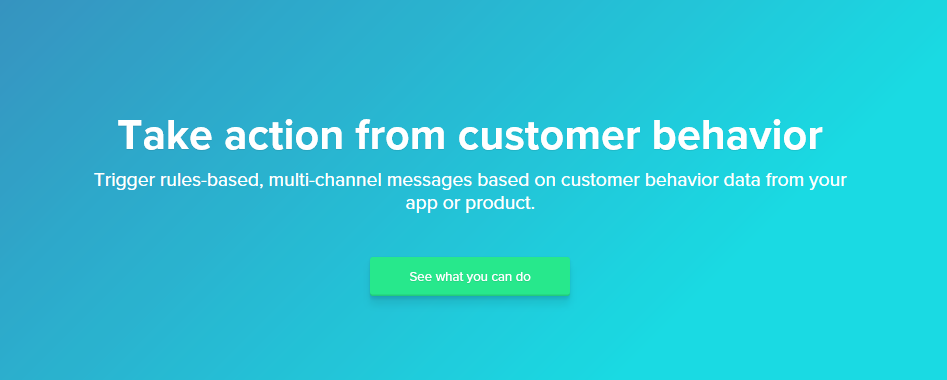 The Customer.io homepage